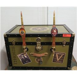 "Steamer Trunk Dual Beer Dispenser (Jockey Box), 31"" x 18.5"" x 19""H"