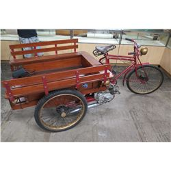 Motorized 3-Wheel Bicycle Trike w/ Honda Motor (Replica of Vietnam-Era Tuktuk or Rickshaw)