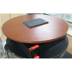 Round Wooden Mounted Rotating Table-Top