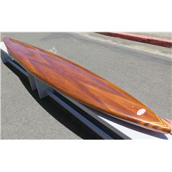 12' Velzy Koa Veneer Custom One of a Kind Paddleboard, Surftech Epoxy, 'Koa Surf Classic' Kakuhihewa