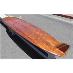 10' Velzy Wood Veneer Custom One of a Kind Surfboard, Surftech Epoxy,  'Surfboards by Velzy'