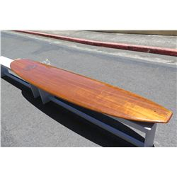 10' Velzy Koa Veneer Custom One of a Kind Long Board  Surfboard 'Koa Surf Classics'