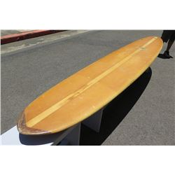 10' Vintage Hansen Long Board Surfboard, Single-Fin