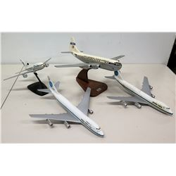 Qty 4 Model Pan Am Airplanes -  Passenger & Cargo & World Airways