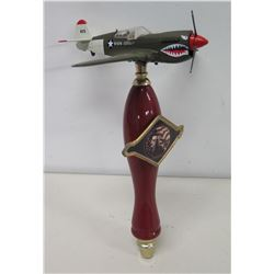 """Home of the Brave Beverage Company"" Beer Tap w/ Shark Plane"