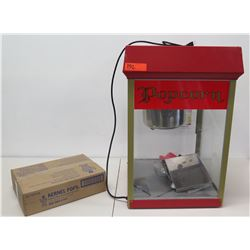 Commercial Popcorn Kettle Maker Machine & Box Kernel Pops Portion Packs