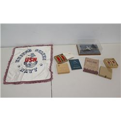 USN Pillow Sham, Pocket Guides, Fighter Jet in Glass Case, etc