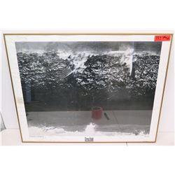 "Framed & Signed Greg Noll Collection 1983 Killer Closeout Waimea Bay 35"" x 28"""