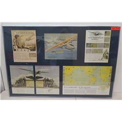 "Framed 5-Section Collage - Pan Am Atlantic Flying Clipper 47"" x 32"""