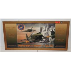 """Framed """"Home of the Brave Beverage Company"""" Air Fighters 50"""" x 23"""""""