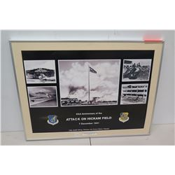 """Framed Attack on Hickam Field 5 Photo Collage 15th Airlift Wing 26"""" x 20"""""""