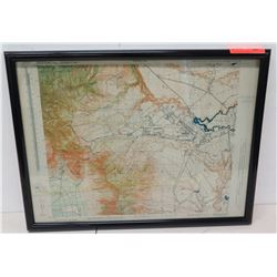 "Framed Territory of Hawaii Topographic Map 25"" x 20"""