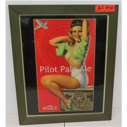 """Framed """"Home of the Brave Beverage Company"""" Pilot Pale Ale Print 18"""" x 23"""""""