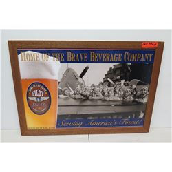 "Framed ""Home of the Brave Beverage Company"" Pilot Pale Ale Print 33"" x 23"""