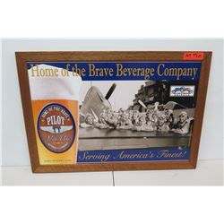 """Framed """"Home of the Brave Beverage Company"""" Pilot Pale Ale Print 33"""" x 23"""""""