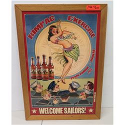 "Framed RimPac Exercise Print Welcome Sailors! 33"" x 23"""