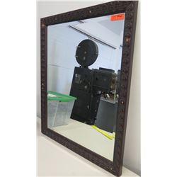 """Wooden Frame Mirror 34.5"""" x 40.5"""""""