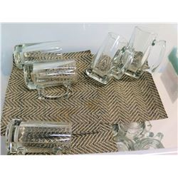 Qty 29 Clear 12-Ounce Beer Stein Mugs