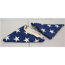 Qty 2 Folded U.S.A. Flags