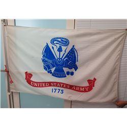United States Army Flag 1775 on Flagpole