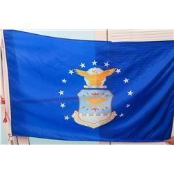 Blue United States Air Force Flag on Flagpole