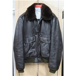 WWII Cooper Leather Jacket w/ Fur Collar (size 42)