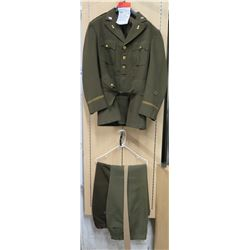 WWII Army Ordnance Jacket, USARPAC Patch, 2 Green Pants & Khaki Tie