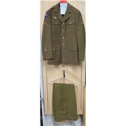 WWII Army Air Corps Jacket & Patch, Far East Patch, Green Pants (size unknown)