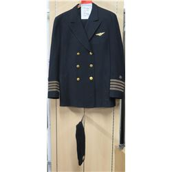 WWII US Navy Officer's Dress Jacket, Pants, Cap, Wings Insignia (size unknown)