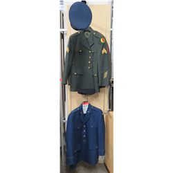 Non-WWII Uniforms - Air Force w/ Hat, Army, Marine & 2 Garrison