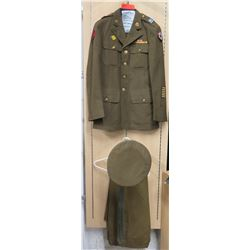 WWII Enlisted Army Jacket, 3 Patches - Service, Pacific & 3 Yrs Overseas, Pants