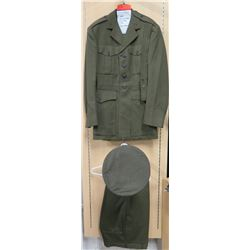 WWII Marine Corps Jacket, Pants & Hat (size unknown)