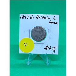 1893 GREAT BRITAIN 6 PENCE