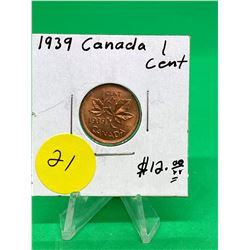 1939 CANADA 1 CENT.MS++