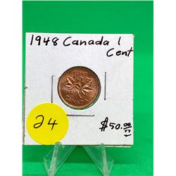 1948 CANADA 1 CENT.MS++