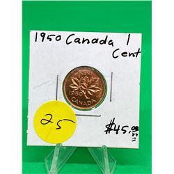 1950 CANADA 1 CENT. MS++
