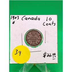 1903H CANADA 10 CENTS.