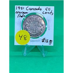 1951(NARROW DATE) CANADA 50 CENTS