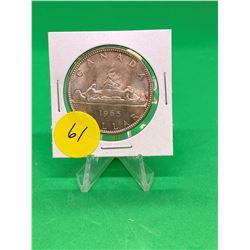 1965 (LG BEAD,BLT 5)CANADA SILVER DOLLAR