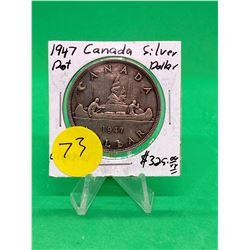 1947(DOT) CANADA SILVER DOLLAR! NICE KEY DATE
