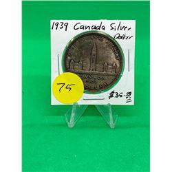 1939 CANADA SILVER DOLLAR.NICE GRADE MS++