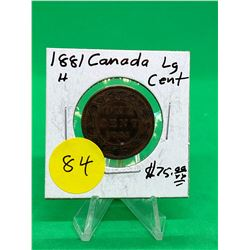 1881H CANADA LARGE CENT.NICE GRADE MS++