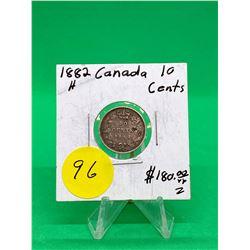 1882H CANADA 10 CENTS.NICE GRADE