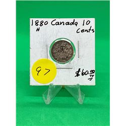 1880H CANADA 10 CENTS