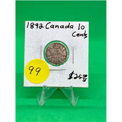 1892 CANADA 10 CENTS.