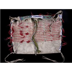 Sioux Beaded & Quilled Tipi Possible Bag c. 1870