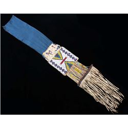 Ute Beaded and Quilled Pipe Tobacco Bag c. 1870