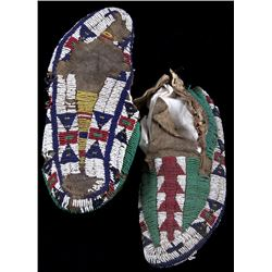 Gros Ventre Fully Beaded Moccasins c. 1870-80