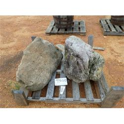 (2) DECORATIVE ROCKS Miscellaneous