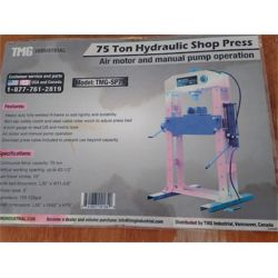 TMG INDUSTRIAL TMG-SP75 HYD SHOP PRESS Miscellaneous